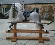 Mayfield dapplegrey rocking horse