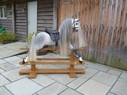 Mayfield dapple grey rocking horse