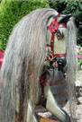 Traditional Wooden Rocking Horse antique FH Ayres head detail from The Ringinglow Rocking Horse Company