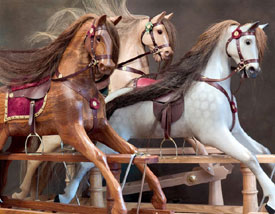 Wooden rocking horses from Ringinglow Rocking Horse Company