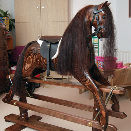 Polished Wood Kit Horse